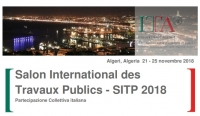 "Partecipazione Collettiva Italiana al ""Salon International des Travaux Publics - SITP 2018"" - Algeri, 21-25 novembre 2018"
